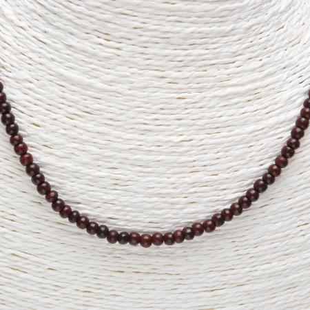 autres bijous collier bois de rose petites perles