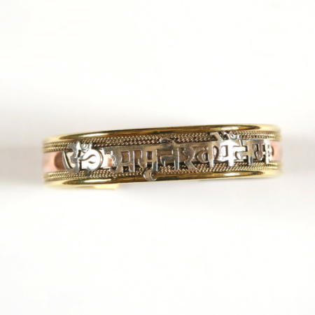 bracelets trois metaux om amriteshwaryai namah